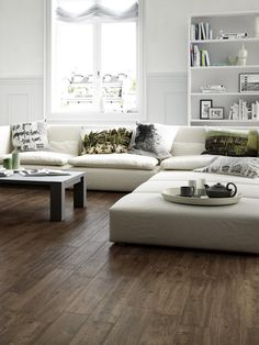 Wooden Floors Living Room, Wooden Flooring, Steel Doors, Future House, Tiles, Couch, Interior Design, Inspiration, Furniture