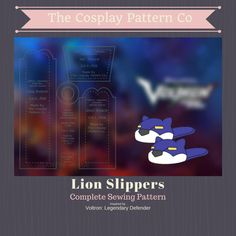 Lion Slipper PDF Pattern From Legendary Defender- Lance McClain, Blue Paladin Voltron Cosplay, Lance Mcclain, Puff Paint, Paladin, Beauty Routines, Lion, Slippers, Make It Yourself, Sewing