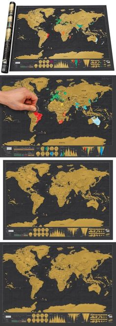 Other travel maps 164807 scratch off world travel tracker map other travel maps 164807 scratch off world travel tracker map scratch your travels black and gold buy it now only 4016 on ebay gumiabroncs Gallery