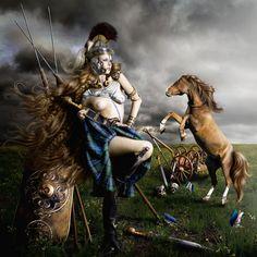 "The Regal Twelve – Boudica – ""The Celtic Queen"" (AD 26-61) - Artist Alexia Sinclair"