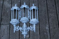 White Shabby Chic Hollywood Regency Homco by PrairieGalCreations, $38.00