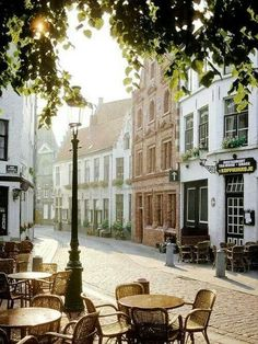 Brugge Belgium. Always an memorable experience finding places like this to eat.