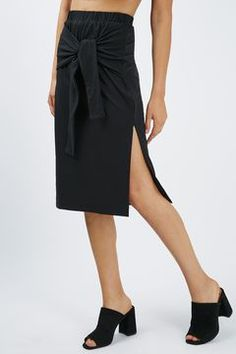 **Tie Front Wrap Skirt by Glamorous