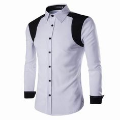 Fashion Casual Mixed Colors Slim Fit Long Sleeve Dress Shirts for Men