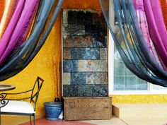 how to make a slate water wall