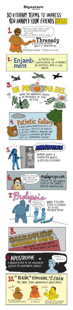 10 literary terms to impress your friends #infographic