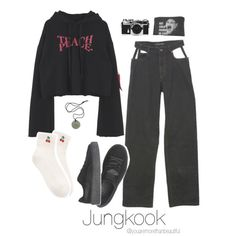 BTS Inspired [Black] by youaremorethanbeautiful on Polyvore featuring polyvore, fashion, style, Y/Project, Puma, Nikon and clothing