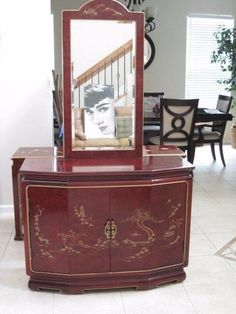 oriental slant front rosewood lacquer cabinet burgundy red ornate design orientalfurniture easternglobalinspired amazoncom oriental furniture korean antique style liquor