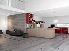 Cuisine architecturée ouverte sur le salon - La nouvelle mode des cuisines semi-ouvertes - CôtéMaison.fr
