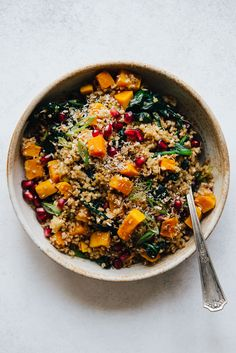 #Vegan Coconut Bulgur & Butternut Squash Bowl - a healthy grain bowl that is easy to make!