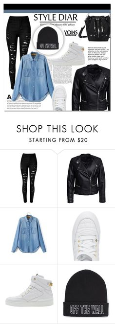 """""""Yoins 40"""" by mini-kitty ❤ liked on Polyvore featuring Sisters Point, Moschino, Vans and yoins"""