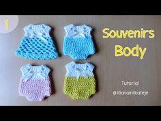 Souvenir body enterito tejido a crochet ganchillo. Baby Shower, bautismos, Cumpleaños. Parte 1 - YouTube
