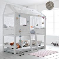 SILVERSPARKLE CHILDREN'S HIGH HUT BED | Unique Kids Beds | White Bed | Winter Interior Design Inspiration | Silver | Princess Bed | Wonderland | cuckooland.com