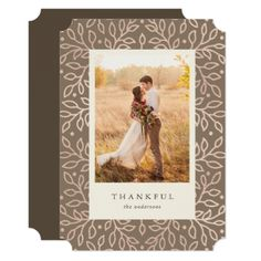 Thankful Fall Photo Card - wedding invitations cards custom invitation card design marriage party