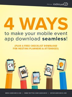 4 Things you Should Know Before Downloading Your Conference's Mobile Event App: Plus a FREE checklist download for Meeting Planners & Attendees! #eventprofs #meetingplanner #conferences #events #eventapp