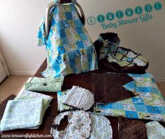 Sewing Baby Gift Easy DIY Baby Gift Ideas - Homemade Baby Shower Gift - This is a great collection of easy DIY baby shower gifts. This collection was so fun and if you can sew a straight line, you can make these. Homemade Baby Gifts, Diy Baby Gifts, Baby Crafts, Baby Shower Gifts, Sewing Projects For Kids, Sewing For Kids, Sewing Ideas, Easy Baby Blanket, Diy Bebe