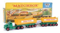 "Matchbox Kingsize No.K16 Dodge Tractor Unit with Twin Tipper Trailers, ""Dodge Trucks"""