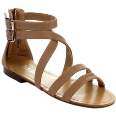 Featuring an open toe, multi ankle strap with back zipper closure, a cushioned insole, an approximate 0.5 inch heel for extra comfort, these sandals are perfect for dresses, and are made of man made m