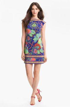 Trina Turk Handbags | Trina Turk 'Felana' Print Jersey Shift Dress | Nordstrom