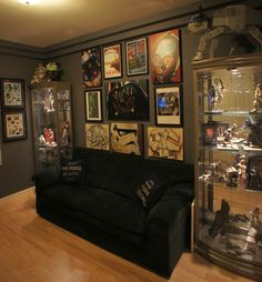 For Robbie's War Room (Not Star Wars), but this kind of set up (remove the couch for an arm chair, footlocker, mannequins/clothes rack. Attached to an office, perhaps?