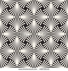 Vector Seamless Black White Arc Lines Stock Vector (Royalty Free) 498726145 - Vector Seamless Black and White Arc Lines Grid Pattern. Vector Pattern, Pattern Art, Pattern Design, Quilling Patterns, Zentangle Patterns, Zentangles, Rose Stencil, Mandala, Alcohol Ink Crafts
