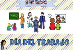 DIA DEL TRABAJO_EUGENIA ROMERO Community Helpers, Karaoke, Kids Rugs, Teaching, Comics, Children, Blog, Happy Day, Vocabulary