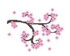 Cross Stitch Pattern Cherry Blossom Branch by CrossStitchDiva, $4.50