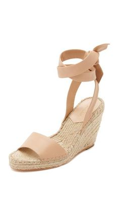 2fc3ea476 Harper Wedge Espadrilles by Loeffler Randall Leather Wedge Sandals, Leather  Wedges, Leather Espadrilles,
