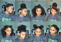 With my hair type I can only do about two of these hairstyles.