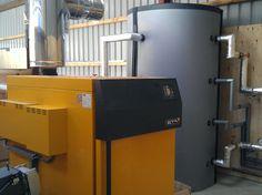 Biomass Wood chip boiler Bala, Gwynedd Solar Thermal Panels, Solar Panels, Heat Pump, Energy Technology, Boiler, Heating Systems, Storage, Wood, Outdoor Decor