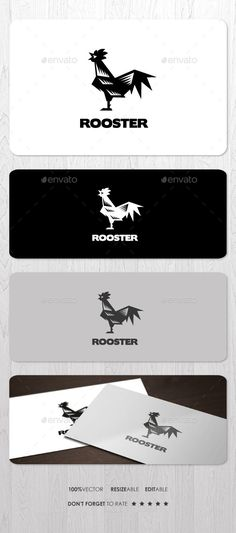Rooster Logo — Vector EPS #livestock #day • Available here → https://graphicriver.net/item/rooster-logo/12421462?ref=pxcr