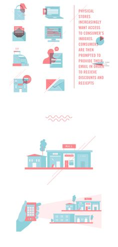 Shopilly Pitch Deck Infographics & Design by Sabrina Smelko, via Behance