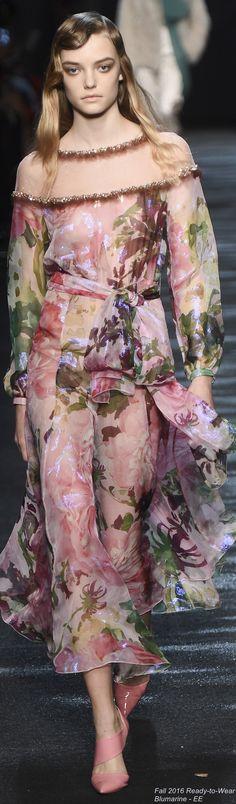 Fall 2016 Ready-to-Wear Blumarine