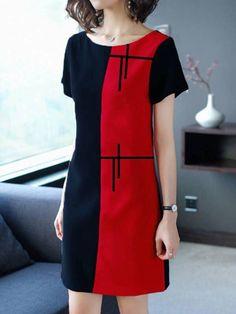simplicity z d key. Stylish Dresses, Casual Dresses, Short Sleeve Dresses, Dress Outfits, Fashion Dresses, Kleidung Design, Classy Outfits, Dress Patterns, Blouse Designs