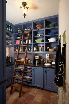 Kitchen Pantry Design   LADDER!