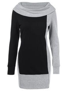 Sweatshirts   Black and grey Zipper Side Longline Sweatshirt - Gamiss