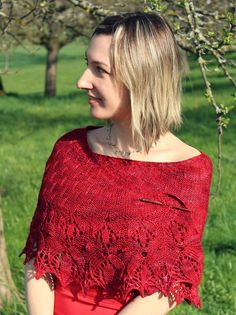 Patterns | Agnes Kutas Knitwear  Crescent-shaped top-down shawl with an easy-to-work knit and purl body and a beautiful floral border. 3 sizes, charted and written directions. Available individually or as part of the Shawls to Dye for collection.