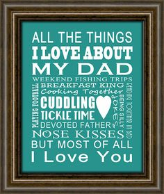 """Father's Day Gift - Gift For Dad - Gift From Kids To Dad - Other Sizes & Colors Available - 8X10"""" Print"""