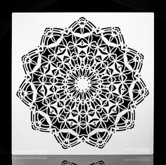 Decorative Moroccan Style Design Stencil. Wall / Art / Craft / Painting / Makeup / Furniture / Tattoo / Overlay Airbrush Stencil.