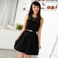 Buy '59 Seconds – Faux Pearl Neckline Lace Yoke Dress (Belt not Included)' at YesStyle.com plus more Hong Kong items and get Free International Shipping on qualifying orders.