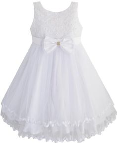 EE55 Girls Dress White Pearl Tulle Layers Wedding Pageant Flower Girl Size 9-10 Sunny Fashion http://smile.amazon.com/dp/B00GFAKIJM/ref=cm_sw_r_pi_dp_lj1Xtb0JK7HDCZQF