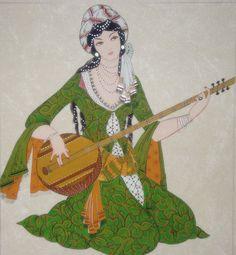 L'art Du Portrait, Middle Eastern Art, Islamic Paintings, Turkish Art, India Art, Islamic Art Calligraphy, Inspiration Art, Historical Art, Arte Popular