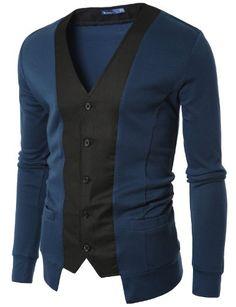 Doublju Mens Stylish Slim Cardigan   BLUE (US-XL) Doublju,http://www.amazon.com/dp/B00453GPGQ/ref=cm_sw_r_pi_dp_-Dagsb1H962TCS5B
