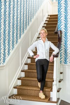 Lee Kleinhelter and T. Adams Studio inject a historic Dutch Colonial home with happy hues and classic character Dutch Colonial Homes, Antique Dining Chairs, New England Style, Atlanta Homes, Nordstrom Anniversary Sale, Color Stories, Wall Treatments, Bold Colors, Interior And Exterior