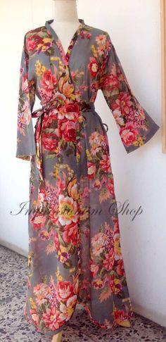 Kaftans Hospital Gowns, Kimono robes Pregnant, Long ankle Length, bridesmaids Gray, Bridesmaids Robes, Bridal party, Maternity robes