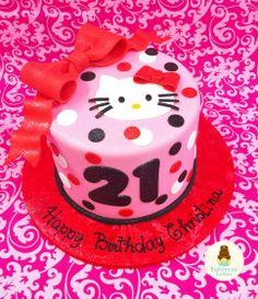 Hello Kitty 21st Birthday Cake
