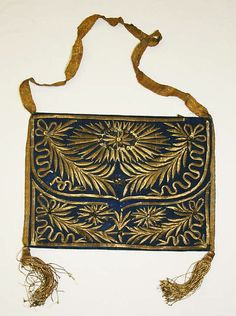 Purse, late 1700s-early 1800s, Europe  I'D CARRY THIS