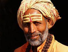 Hindu holy man in India - Hinduism #non-violence #peace