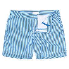 Bluemint.com: BOND Blue Linear Swim Shorts