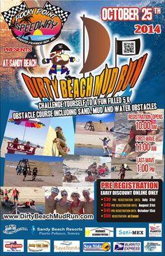 Sábado Octubre 25: Carrera en el Lodo en el Hotel Playa Bonita 10am
